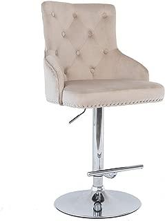 blue velvet bar stool