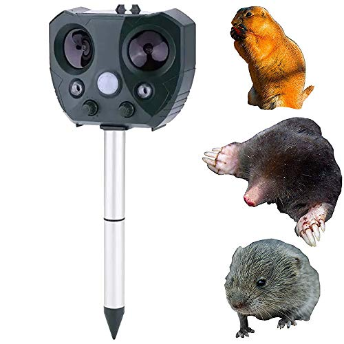 XZYP Repelente De Insectos, Animales Gato Repeller Unidad Reflector Ultrasónico Solar, Accionamiento...