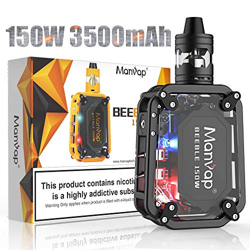 Manvap Beeble 150W Sigaretta Elettronica Smart Mini Svapo Kit, Ricaricabile 3500mAh Batteria/Top Fill 2.0ml Atomizzatore,No Nicotina, No Liquido Elettronico