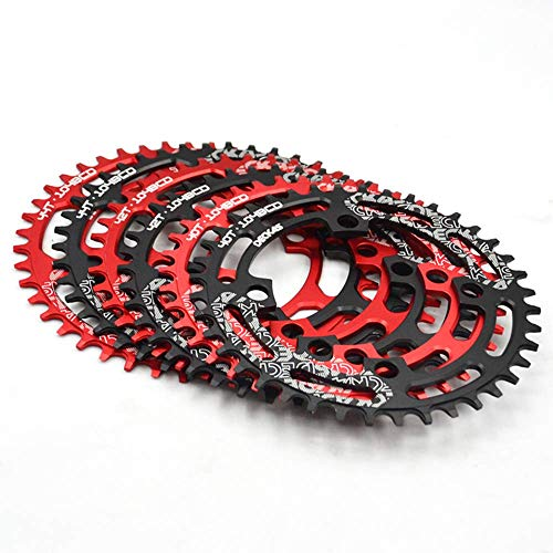 32-38T 104BCD Plato ancho estrecho de MTB, redondo/ovalado AL7075 Anillo de cadena de bicicleta de montaña CNC, Plato de bicicleta ultraligero, apto para platos de bicicleta de cadena Shimano/SRA