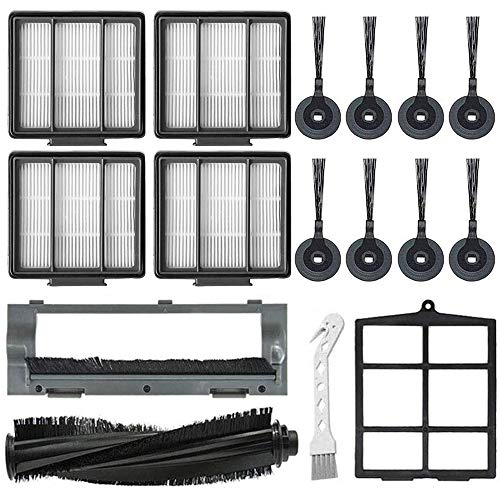 Mochenli Replacement Parts for Shark ION Robot S87 R85 RV850, RV850WV, RV851WV Vacuum Cleaner Accessory Kit Pack of 8 Side Brushes,4 HEPA Filters,1 Primary Filter,1 Main Brush,1 Main Brush Guard Attachments Dining Features Kitchen
