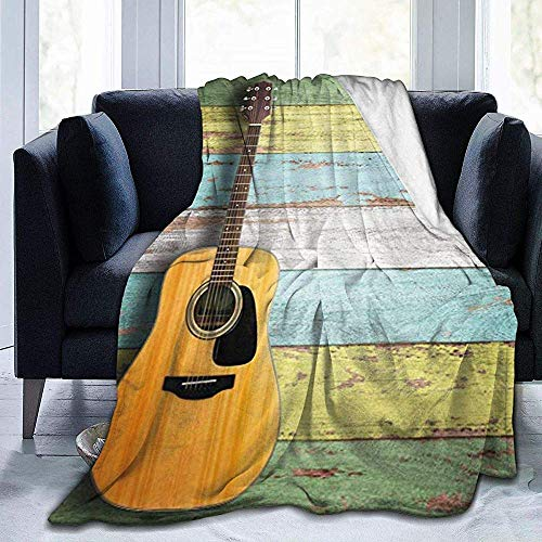 Wobuzhidaoshamingzi Nice Guitar Ultra Soft Fleece Blanket flanel Velvet Plush Throw