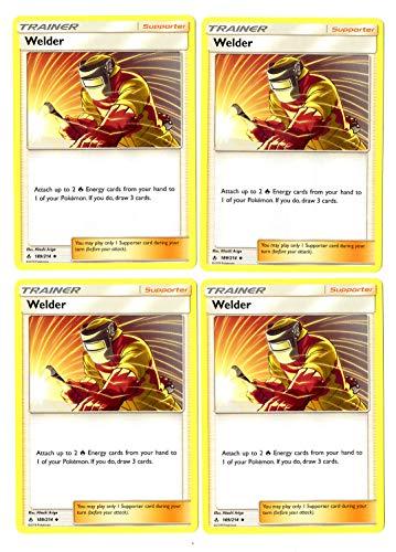 Trainer Card Play Set - Welder 189/214 - Sun Moon Unbroken Bonds - 4 Card Lot