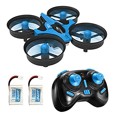 Redpawz Mini Drone for Kids, H36 Drone with 2.4G 4CH 6 Axis Gyro Headless Mode Remote Control CF Mode One Key Return RC Quadcopter Drone Helicopter RTF with 2 Betteries (blue) from Redpawz