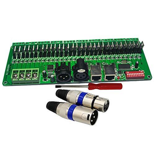 GIDERWEL PCBA 30 Channel DMX Decoder PWM DMX512 60A Dimmer Driver LED Strip Controller for LED Light Strip&LED Module,LED Lamp DC12V-24V