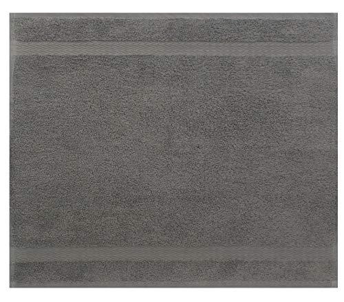 Betz Serviette débarbouillette Lavette Taille 30 x 30 cm 100% Coton Premium Couleur Gris Anthracite