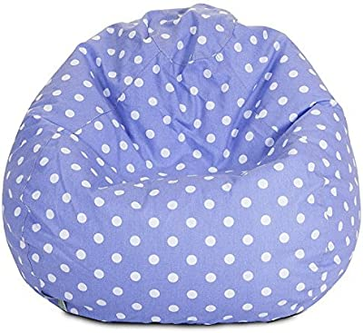Majestic Home Goods Classic Bean Bag Chair - Mini Polka Dots Giant Classic Bean Bags for Small Adults and Kids (28 x 28 x 22 Inches) (Lavender) [並行輸入品]
