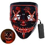 LED Maske Halloween Gruselig Purge Maske,Party Leucht Maske,füR Herren Damen Party Halloween...