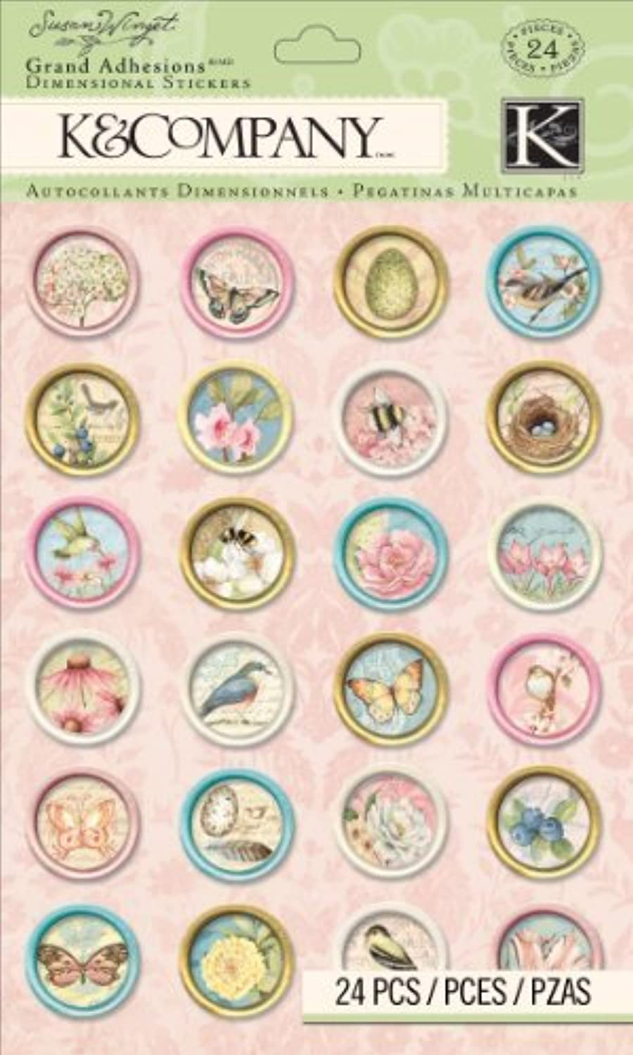 K&Company Icon Grand Adhesions Sticker by Susan Winget by K&Company K&Company K&Company B0149HD7YU | Haltbar