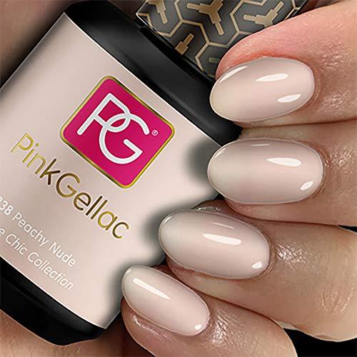 Couleur de vernis Permanent Pink gellac 238 Peachy Nude
