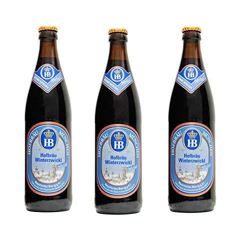 10 Flaschen HB Hofbräu Winterzwickl a 500ml inc. 0.80€ MEHRWEG Pfand Bier