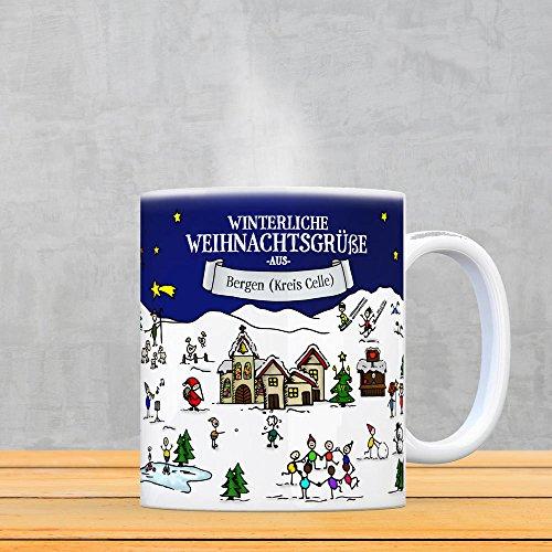 Bergen (Kreis Celle) Weihnachten Kaffeebecher mit winterlichen Weihnachtsgrüßen – Tasse, Weihnachtsmarkt, Weihnachten, Rentier, Geschenkidee, Geschenk - 3