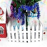 Hrpa White Plastic Picket Fence Alberi di Natale Decorare per Natale Festa a casa Festa di Nozze (4 Pz)