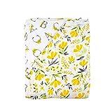 Bebe au Lait Oh So Soft Muslin Super Snuggle Blanket, Royal Garden and Floral Alphabet
