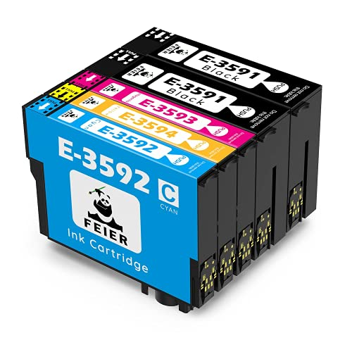 feier 35XL Recambio Cartuchos de Tinta Epson 35 35XL Compatibles con Impresoras Epson Workforce Pro WF-4720DWF WF-4725DWF WF-4730DTWF WF-4730DWF WF-4740DTWF WF-4740DWF WF-4720 WF-4725 WF4730 WF4740