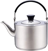 Teapot, Stainless Steel Stove Top Kettles, Mirror Hob Kettle, Easy to Clean, Making Tea Coffee and Hot Water, Fast Boil, Capacity of 0.8L
