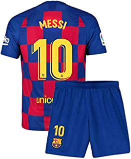 Sulnasport Barcelona 2019-2020 Home 10 Messi Jersey Kids/Youths/Short Colour Red/Blue