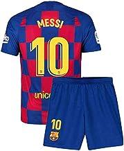 Kids//Youth 2019-2020 Home Season #10 Messi Soccer Jersey Matching Shorts,Socks,Shin Guards