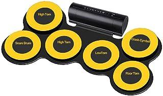 LVSSY-Silicona Gruesa 6 Pads Roll Up de Batería Drum Kit Tambor de Jazz USB Batería Electrónica DTX Gaming Pad