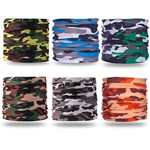 Headband Bandanas Shield for Face Headwear Face Mask Scarf Balaclava Neck Gaiter Headwrap (Camo)