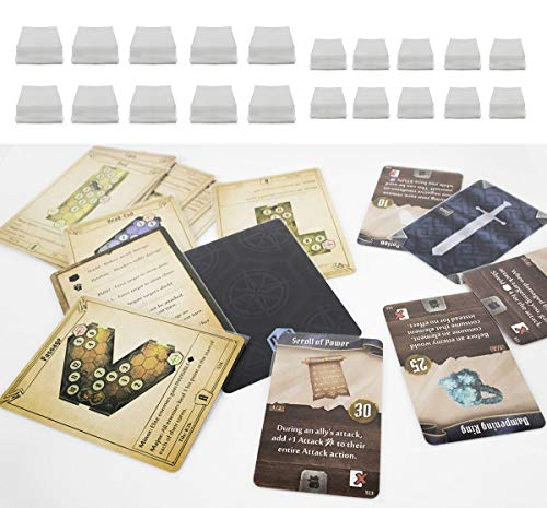 Dephia 2000 Ct Gloomhaven Board Games Card Sleeves Great Fit 1000 Card Sleeves for Standard Cards and 1000 for Mini European Cards