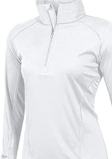 Womens UPF 50+ Sun Protection Moisture Wicking 1/4 Zip Pullover Long Sleeve Shirt