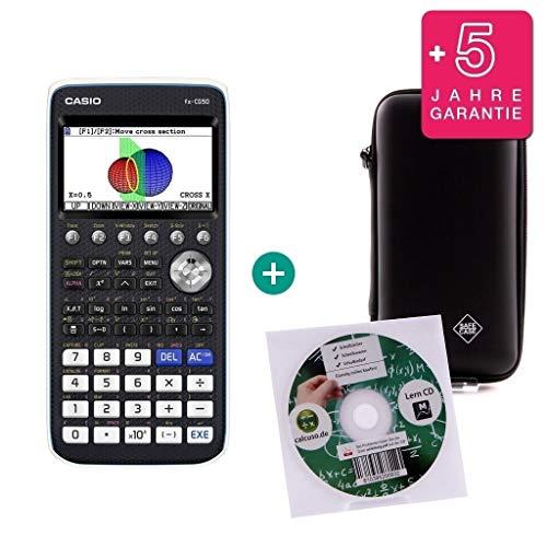 FX-CG 50 von Casio + Lern-CD (auf Deutsch) von calcuso + Schutztasche von calcuso + Erweiterte Garantie von calcuso