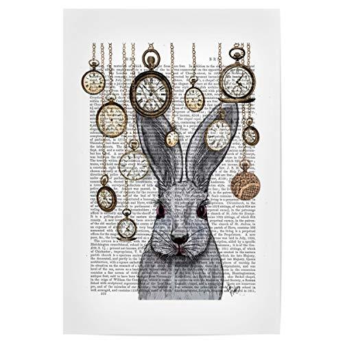 artboxONE Poster 60x40 cm Film Folge DEM Kaninchen - Bild Alice im Wunderland Wonderland Kaninchen