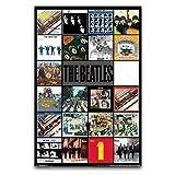 wpql the beatles album poster su tela di canapa stampa fotografica moderna famiglia ragazzo camera da letto poster 30 x 45 cm