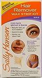 SALLY HANSEN - Wax Strips Hair Remover Kit For Face, Brows & Bikini - 34 Strips