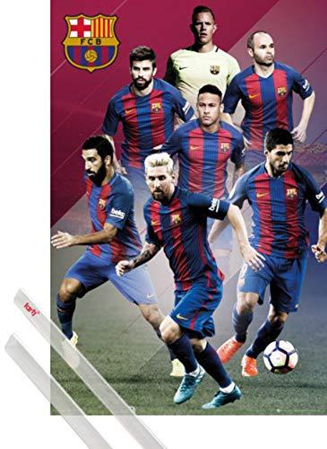 1art1 Fútbol Póster (91x61 cm) Barcelona, Players 16/17 Y 1 Lote De...