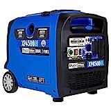 DuroMax XP4500iH 4500-Watt 223cc Dual Fuel Digital Inverter Hybrid Portable Generator, Black/Blue
