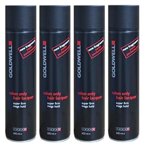4er Hair Lacquer Haarlack Salon Only Goldwell Extra Strong Hold 600 ml