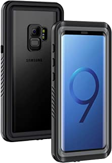 Lanhiem Galaxy S9 Case, IP68 Waterproof Dustproof Shockproof Case with Built-in Screen Protector, Full Body Sealed Underwater Protective Cover for Samsung Galaxy S9 (Black/Gray)