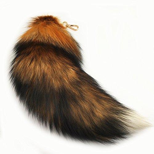 generisch Fuchsschwanz Anhänger etwa 43cm Tierschwanz Extra Groß Schlüsselanhänger Fell Taschen Anhänger Auto Antenne Pelz Anhänger Fox Tail Dekoration