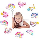 Haarspangen Mädchen Set Tiere Einhorn Pferde 10 Stück groß Haarklammern Kinder Glitzer Haarclips Bunt - Nette Baby Mädchen Kleine Kinder Haarclip für Kinder Geburtstagsgeschenk Kindertagsgeschenk