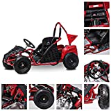 FIT Right 2020 Baja-X 48 Volt 1000 Watt Brushless Electric Go Kart, 3 Speeds Setting Up to 20 mph with Forward and Reverse. Racing Go Cart for Kids with Foot Pedal and Foot Break. (RED)