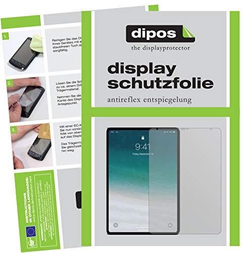 dipos I 2X Schutzfolie matt kompatibel mit Apple iPad Pro 12.9 Zoll (2018) Folie Displayschutzfolie