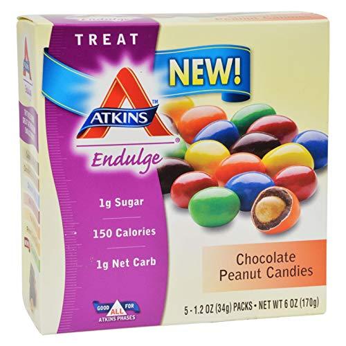 Atkins Endulge Chocolate Peanut Candies 170 gram, No Sugar Added, Low C