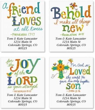 Christian Joy Square Faith Address Labels Popular brand Set 4 Surprise price of 1 - Designs