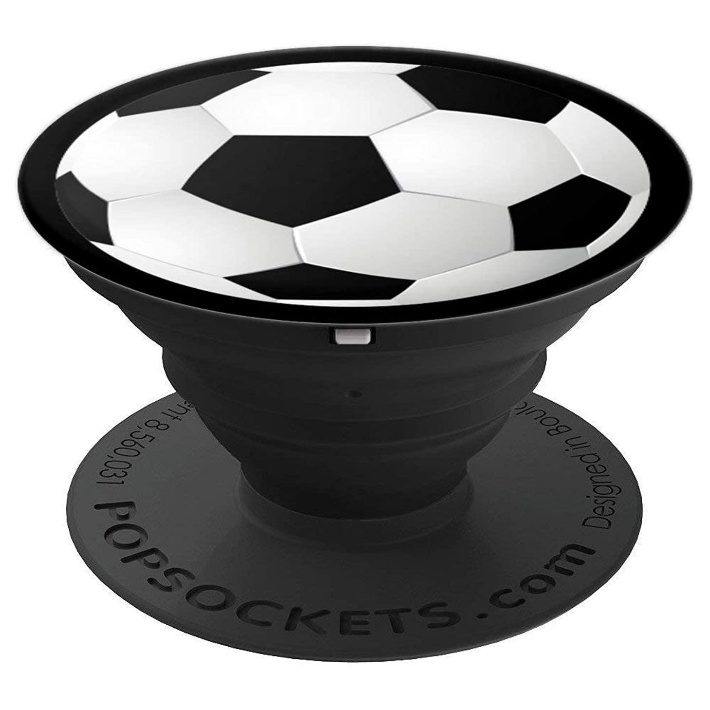 Stylish Soccer Ball for Men, Women and Children - PopSockets Grip and Stand for Phones and Tablets