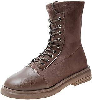 YCKZZR laarzen biker boots laarzen damesmode laarzen halve slang elastisch lichaam, bruin, 38
