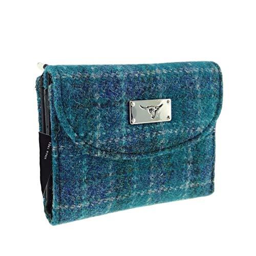 Glen Appin Harris Tweed Damen Kleine Geldbörse LB2002 - Farbe 92 Meeresblau, one Size