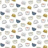 0,5m Mädchen Baumwollstoff mit Katzen/Tiere | keine