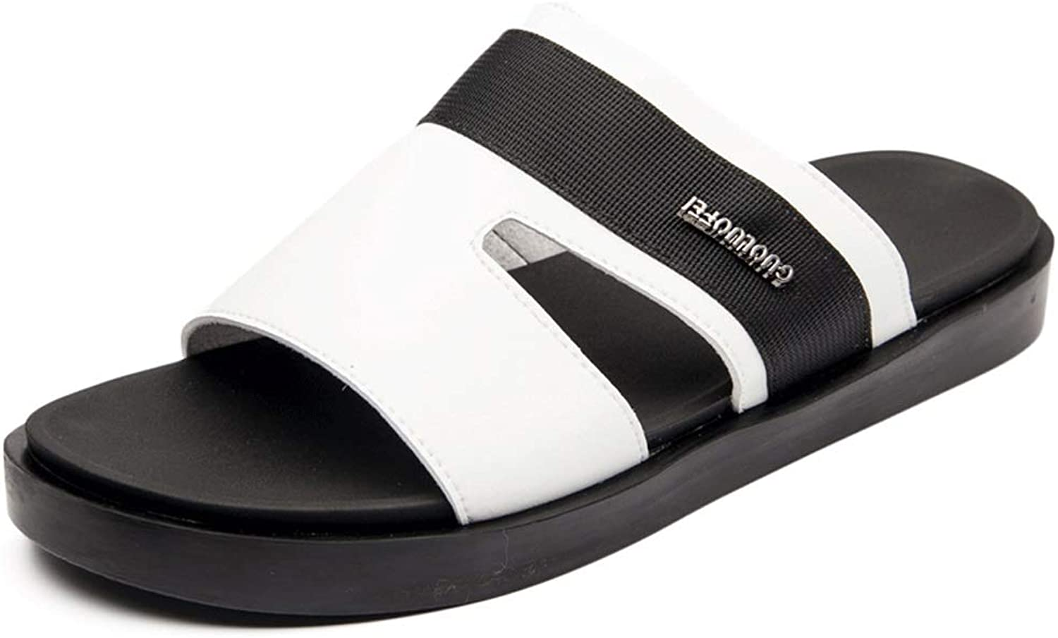 LiXiZhong Summer Men's Sandals And Slippers Fashion Outdoor Casual Men's Sandals Comfortable Non-slip Slippers (color   White, Size   45 EU)