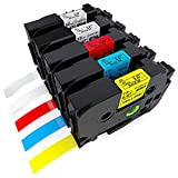 Oozmas Compatible Label Tape Replacement for P-Touch 12mm 0.47 Inch TZe Tapes TZE-131 231 431 531 631 TZ Tape Compatible with Brother Ptouch PT-1280 H110 D210 D400 H100 1880 1890 Label Maker, 5PK