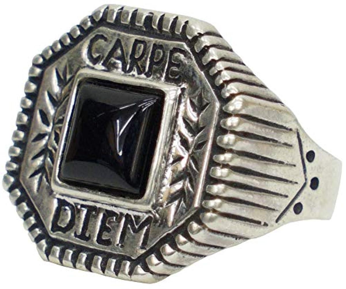 エネルギークロール時々時々LHN Jewelry(エルエイチエヌ ジュエリー) Made In USA ハンドメイド シルバー x オニキス カルペディエム リング シルバー Carpe Diem Ring Silver Onyx 並行輸入品 (18号) [並行輸入品]