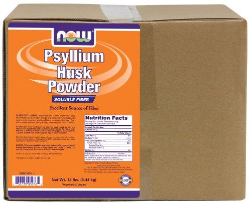 NOW Supplements, Psyllium Husk Powder, Non-GMO Project Verified, Soluble Fiber, 12-Pound