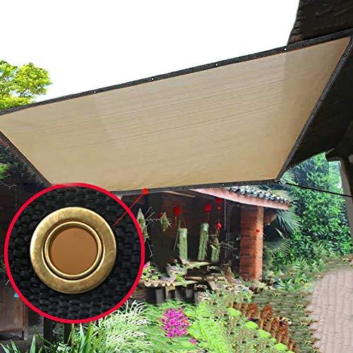 Filet d'ombrage Bord de Tissu de Tissu D'ombre de Plantes D'extérieur avec Oeillets en Acier Inoxydable, Toile D'ombrage À 90% pour Pelouse de Jardin, Jaune (Size : 5×6m)