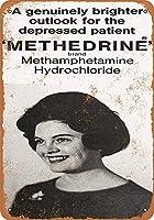 うつ病患者のためのメタンフェタミン金属サインレトロな壁の装飾ティンサインバー、カフェ、家の装飾